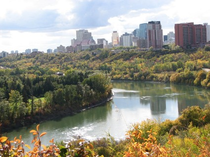 Edmonton river valley