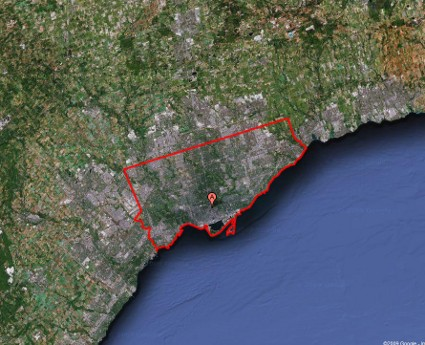 map of Toronto city limits