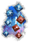 collage of crystal icons