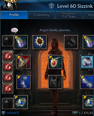 character tab with item level